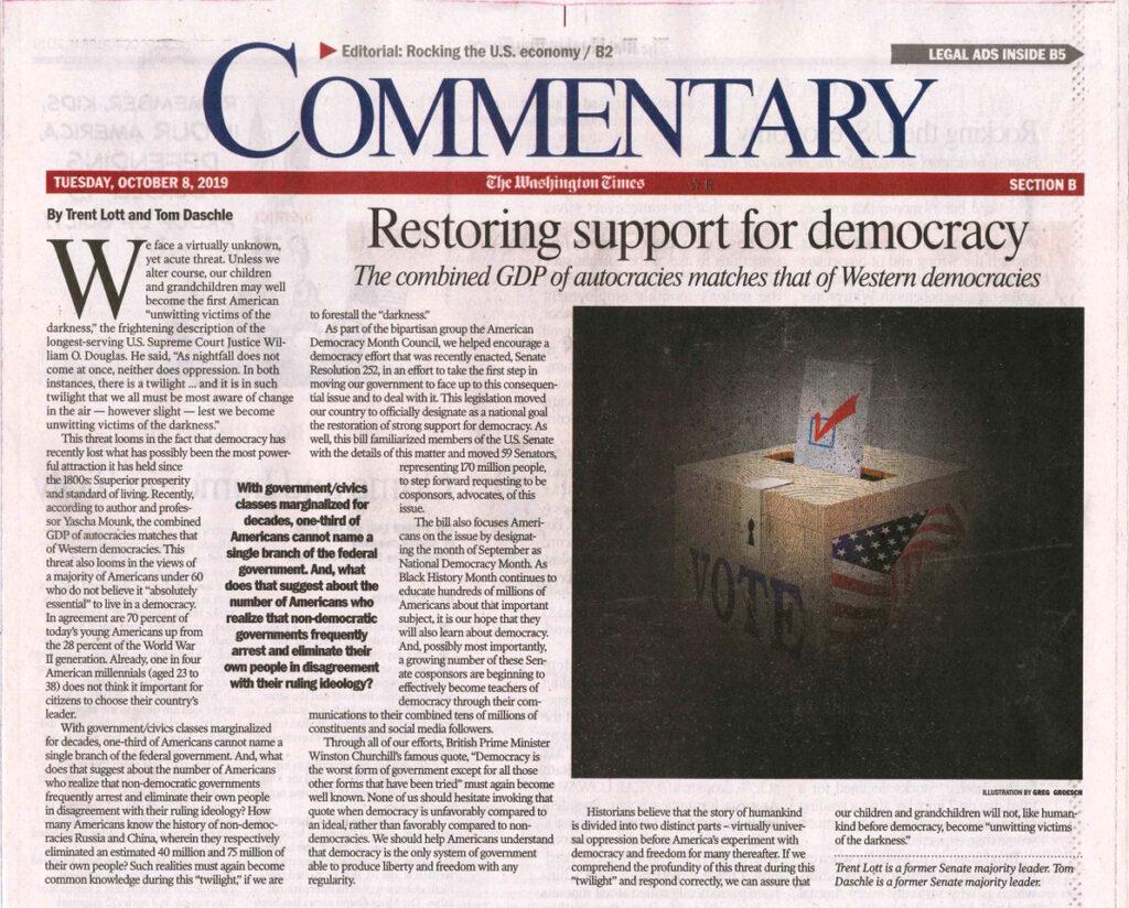 Restoring support for democracy